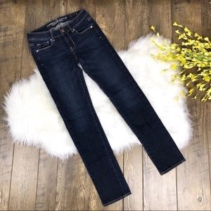 American Eagle Skinny Jeans Size 0 Dark Wash